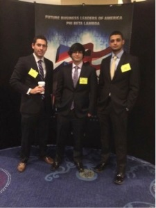 PBL members Billy McFarland, Damiano Spinoso, and Vincent Marzano representing Stevens at the National Fall Leadership Conference.