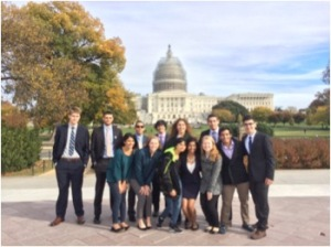 Members of Stevens PBL pictured in front of the Capitol building in Washington, D.C.